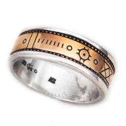 Ezüst És 14 k Arany Karikagyűrű