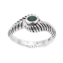 Ezüst Gyűrű Zöld Kővel