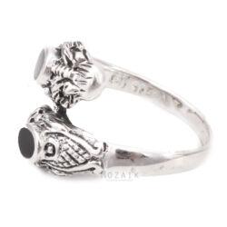 Ezüst Kígyós Gyűrű Ónixszal