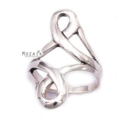 Ezüst Gyűrű Hurokkal
