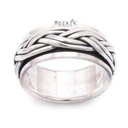 Ezüst Forgatható Karikagyűrű