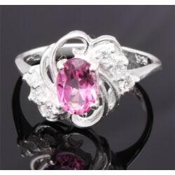 Ezüst Gyűrű Rózsaszín Topázzal
