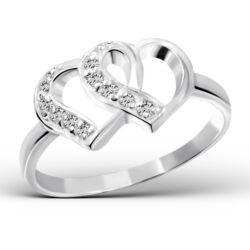 Elegáns Sterling Ezüst Gyűrű Cirkónia Kövekkel