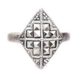Ezüst Markazit Gyűrű