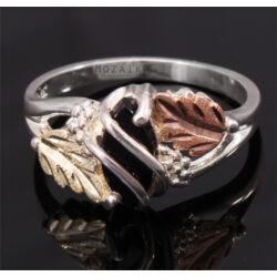 Ezüst Gyűrű Arannyal és Ónixal