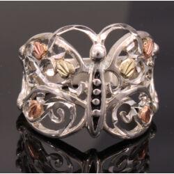 Ezüst Pillangó Gyűrű Arannyal 54