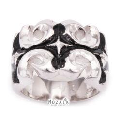 Ezüst Gyűrű Fekete Mintával