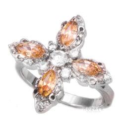 Ezüst Gyűrű Színes Cirkóniával