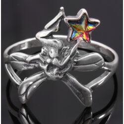 Ezüst Tündér Gyűrű Osztrák Kristállyal