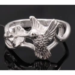 Ezüst Kolibris Gyűrű