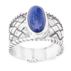 Ezüst Gyűrű Lapis Lazuli Drágakővel
