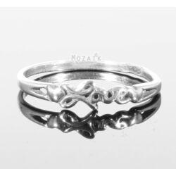 Ezüst Gyűrű Love Felirattal