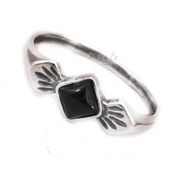 Ezüst Gyűrű Fekete Ónixszal