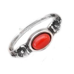 Ezüst Gyűrű Vörös Korállal