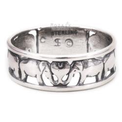 Ezüst Gyűrű Elefántokkal