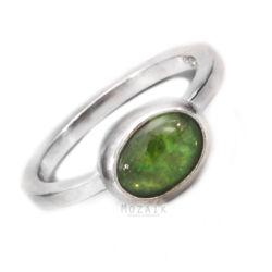 Ezüst Gyűrű Peridot Drágakővel