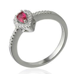 Sterling Ezüst Gyűrű Rózsaszín és Fehér Cirkóniával