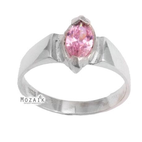 Ezüst Gyűrű Rózsaszín Cirkóniával
