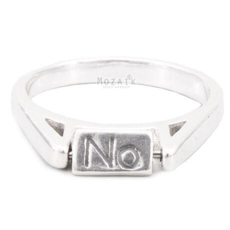 """Ezüst Gyűrű """"Igen-Nem-Talán"""" Felirattal"""