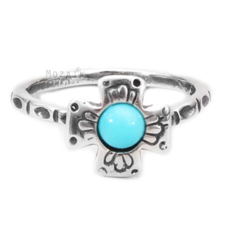 Ezüst Gyűrű Türkiz Drágakővel
