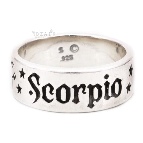 Horoszkóp Ezüst Karika Gyűrű – SKORPIÓ