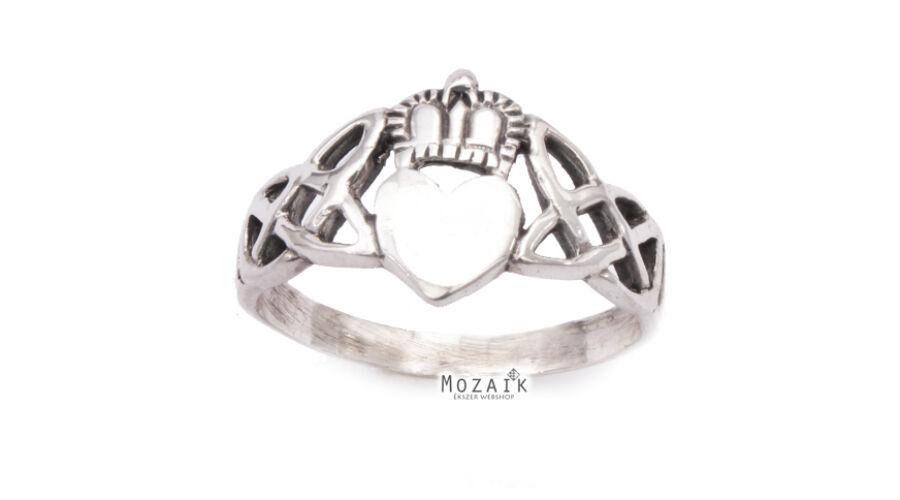 4230058ca4 Fonott Ezüst Gyűrű Szív Koronával - Ezüst gyűrűk - Mozaik Ékszer ...