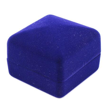 Bársony Gyűrűdoboz - Kék