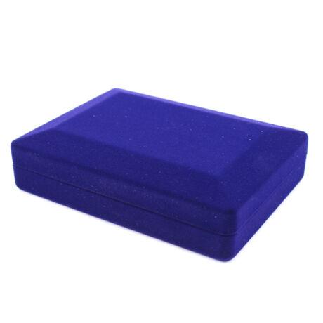 Bársony Nyakláncos Doboz - Kék
