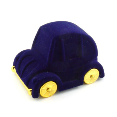 Gyűrűs doboz - Kék kisautó