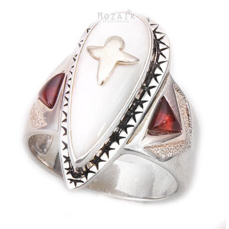 Ezüst és 14K Arany Gyűrű