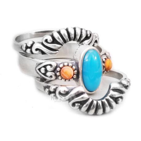 Ezüst Gyűrű Szett
