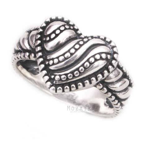 Ezüst Szív Gyűrű