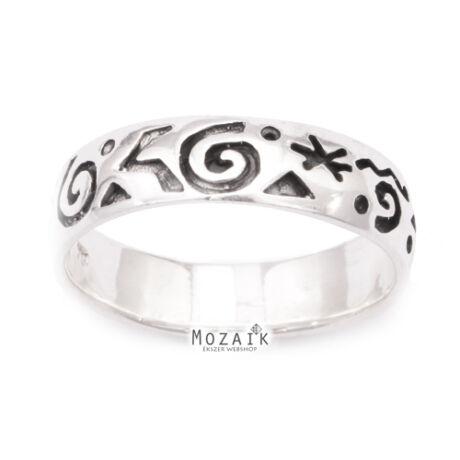 Indián Stílusú Ezüst Gyűrű