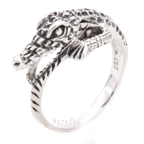 Ezüst Krokodilos Gyűrű