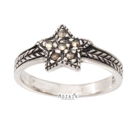 Ezüst Gyűrű Markazittal