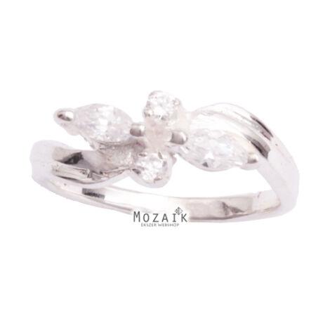 Ezüst Gyűrű Fehér Cirkóniával