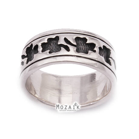Ezüst Gyűrű Lóherével
