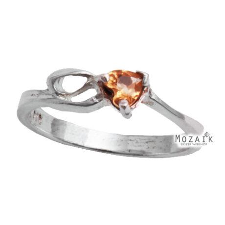 Ezüst Gyűrű Sárga Cirkóniával