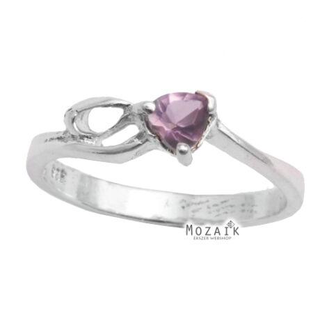 Ezüst Gyűrű Lila Cirkóniával