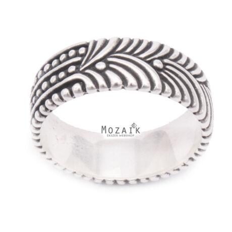 Ezüst Mintás Gyűrű