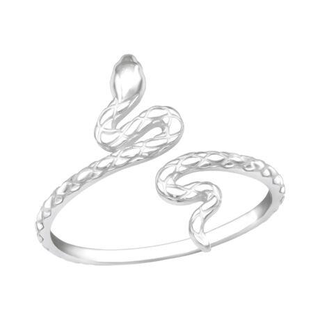 Sterling Ezüst Gyűrű Kígyóval