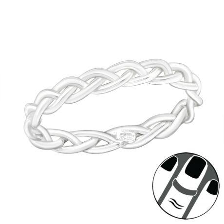 Sterling Ezüst Midi Gyűrű - Fonott