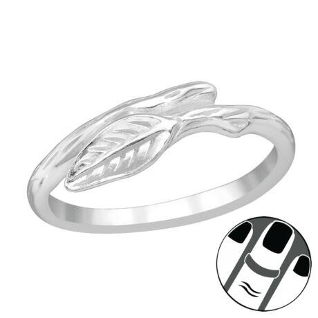 Sterling Ezüst Midi Gyűrű - Levél