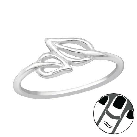 Sterling Ezüst Midi Gyűrű - Levelek