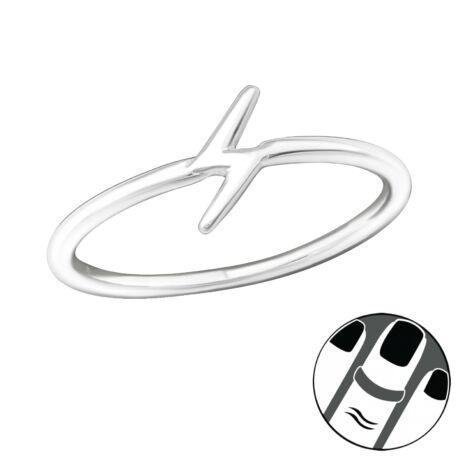 Sterling Ezüst Midi Gyűrű - Villám