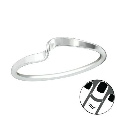 Sterling Ezüst Midi Gyűrű - Hullám