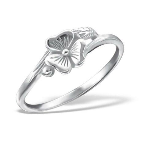 Sterling Ezüst Gyűrű Virággal