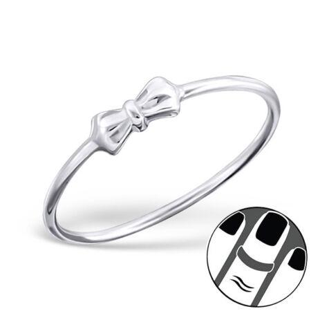 Sterling Ezüst Midi Gyűrű Masnival