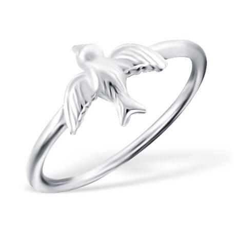 Sterling Ezüst Gyűrű Galambbal