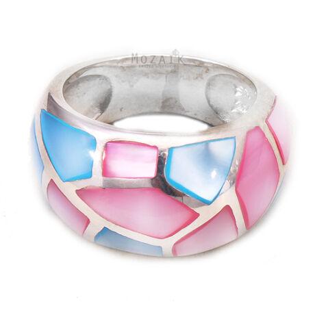 Sterling Ezüst Gyűrű Gyöngyházzal